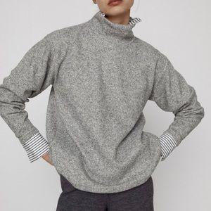 Zara back pleat sweatshirt